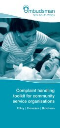 Complaint handling toolkit for community service organisations