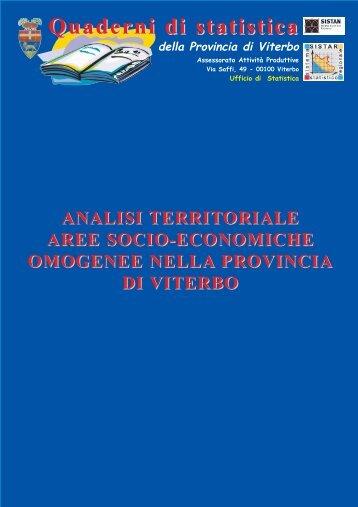 Quaderni di statistica - Provincia di Viterbo