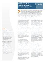 Sun Secure Global Desktop Software 4.2 - Greimel IT-Systemhaus  ...