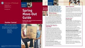 Spring Move-Out Guide - Panther Central - University of Pittsburgh