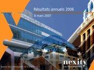 08-03-2007 - Résultats Annuels 2006 (.pdf 1.03 Mo) - Nexity