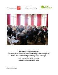 Dokumentation der Fachtagung Biodiversität und Landnutzung am ...