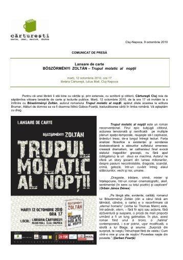 vezi detalii despre autor şi roman (.pdf) - Ziua de Cluj
