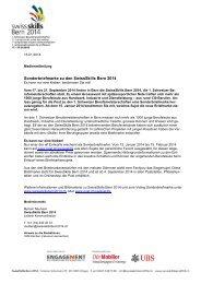 Sonderbriefmarke zu den SwissSkills Bern 2014 - Wirtschaftsraum ...