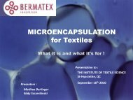 Microencapsulation for textiles - The Institute of Textile Science