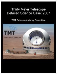 Thirty Meter Telescope Detailed Science Case: 2007