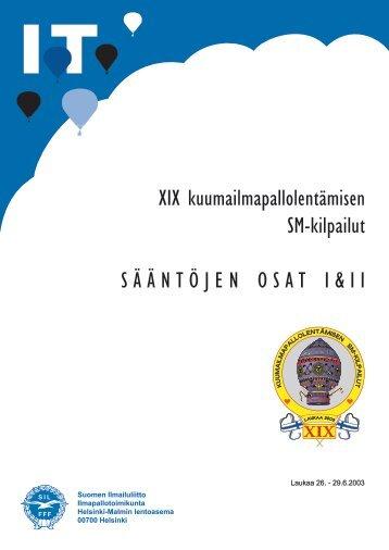 SM 2003, säännöt, osat I ja II - Pallo.net
