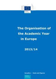 The organisation of the academic year in higher education - EACEA