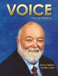 for the defense - Voice For The Defense Online