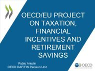 oecd/eu project on taxation, financial incentives and retirement ...
