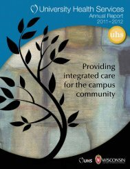 UHS annual report - University Health Services