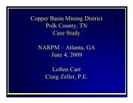 Copper Basin Mining District Polk County, TN Case Study NARPM ...