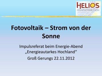 Strom von der Sonne - Simon Klambauer - WVNET GmbH