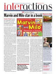 Marvin and Milo star in a book - Institute of Physics