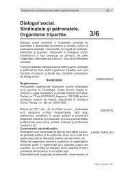 Dialogul social. Sindicatele şi patronatele ... - CSN Meridian