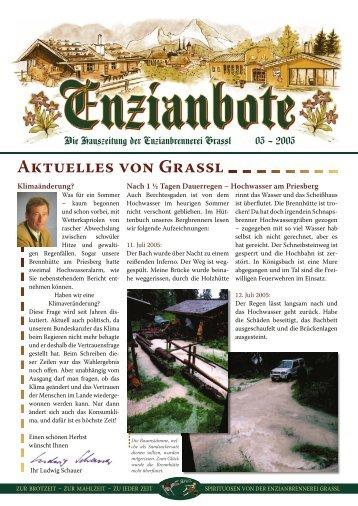 AKTUELLES VON GRASSL - Enzianbrennerei Grassl