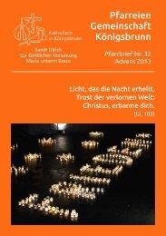 Download pfarrbrief-2013advent-inet.pdf - Katholisch in Königsbrunn
