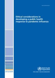 Ethical considerations in developing a public health response to ...