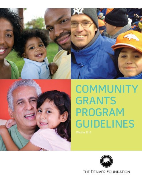 community grants program guidelines - The Denver Foundation