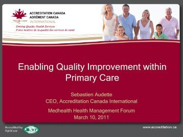 Enabling Quality Improvement within Primary Care