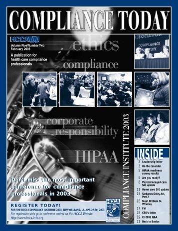 AM - Health Care Compliance Association