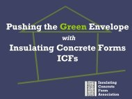 Pushing the Green Envelope Insulating Concrete Forms ICFs