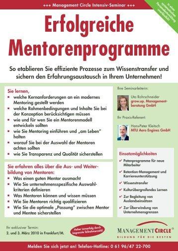 Erfolgreiche Mentorenprogramme - Grow.up. Managementberatung ...