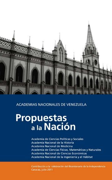Academias que las propuestas - Academia Nacional de la ...