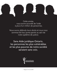 Rapport annuel - 2005-2006 - Legal Aid Ontario