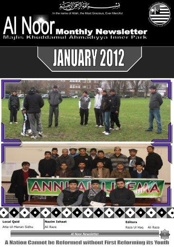 Al Noor Newsletter - Majlis Khuddamul Ahmadiyya UK Majlis ...