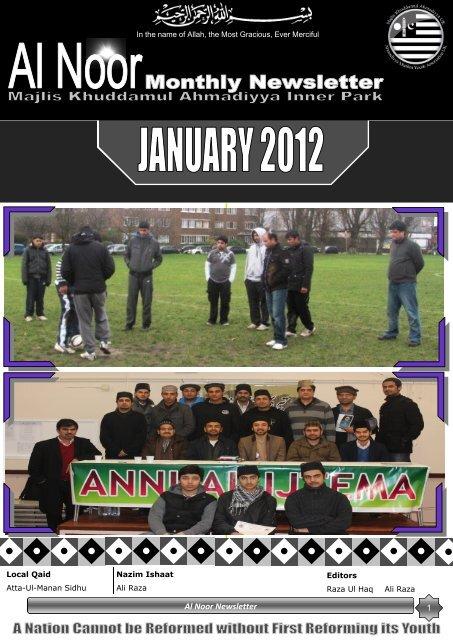 Al Noor Newsletter - Majlis Khuddamul Ahmadiyya UK Majlis