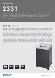 EBA 2331 Office shredder