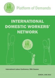 International Domestic Workers' Platform of Demands - WIEGO