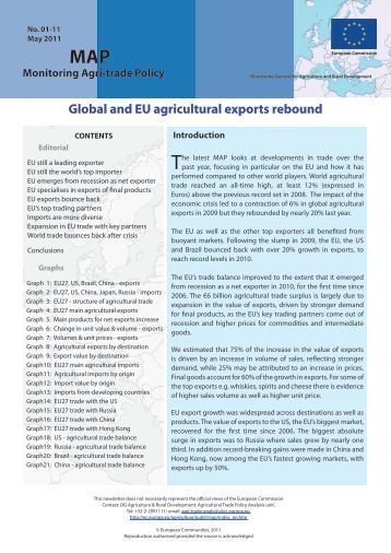 Global and EU agricultural exports rebound - European Commission ...