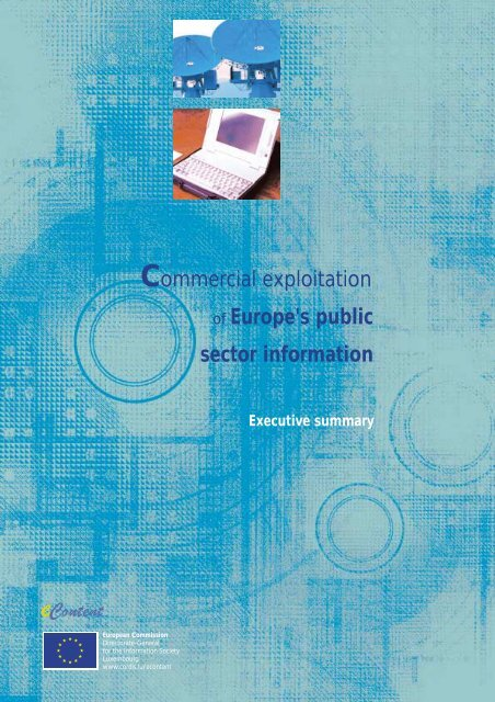 Commercial exploitation of Europe's public sector information - Europa