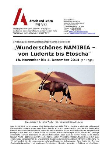 """""""Wunderschönes NAMIBIA – von Lüderitz bis Etoscha"""" - Vhs Bad ..."""