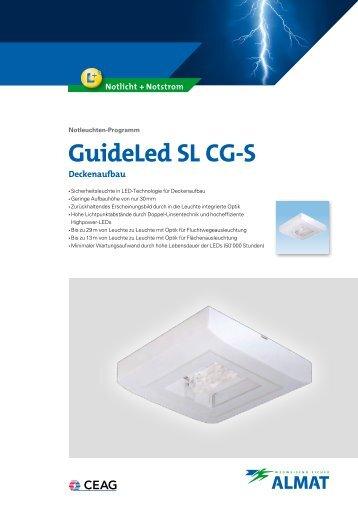 GuideLed SL CG-S Deckenaufbau - ALMAT AG