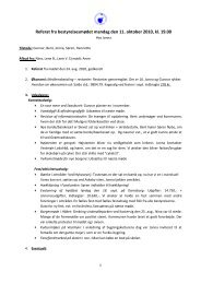 Referat fra bestyrelsesmødet mandag den 11. oktober 2010, kl. 19.00
