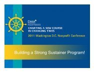 Building a Strong Sustainer Program!