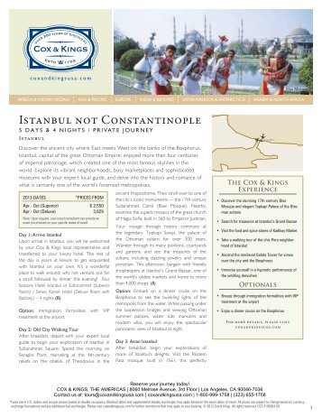 Istanbul not Constantinople - Cox & Kings