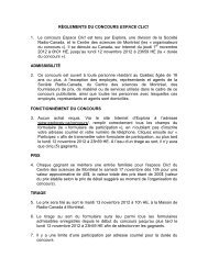 RÈGLEMENTS DU CONCOURS ESPACE CLIC! - Explora