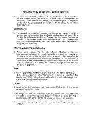 RÈGLEMENTS DU CONCOURS « QUÉBEC SCIENCE » 1 ... - Explora