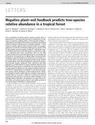 Negative plant-soil feedback predicts tree-species ... - Biology Major