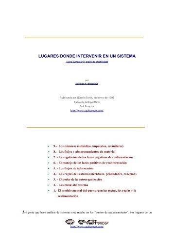 LUGARES DONDE INTERVENIR EN UN SISTEMA