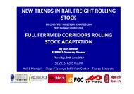 new trends in rail freight rolling stock full ferrmed corridors ... - SIL