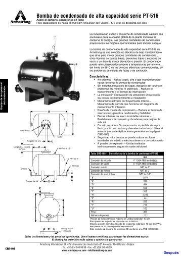 Bomba de condensado de alta capacidad serie PT-516 - Armstrong ...