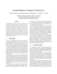 Embedded Platform for Automation of Medical Devices