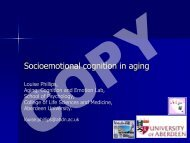 Socioemotional Cognition - New Dynamics of Ageing