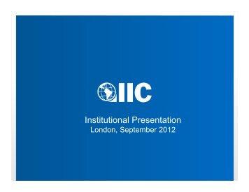 Institutional Presentation - Inter-American Investment Corporation
