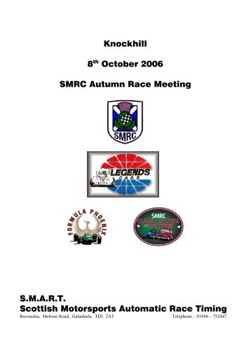 8 th October - SMART Timing